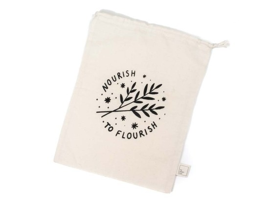 Large Organic Cotton Grocery Bulk Bag - Nourish to Flourish
