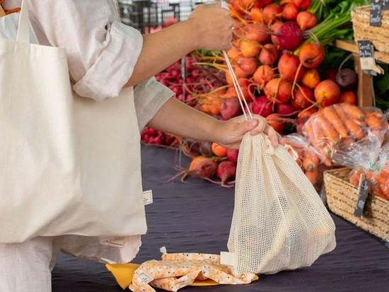Large Organic Cotton Mesh Produce Bag