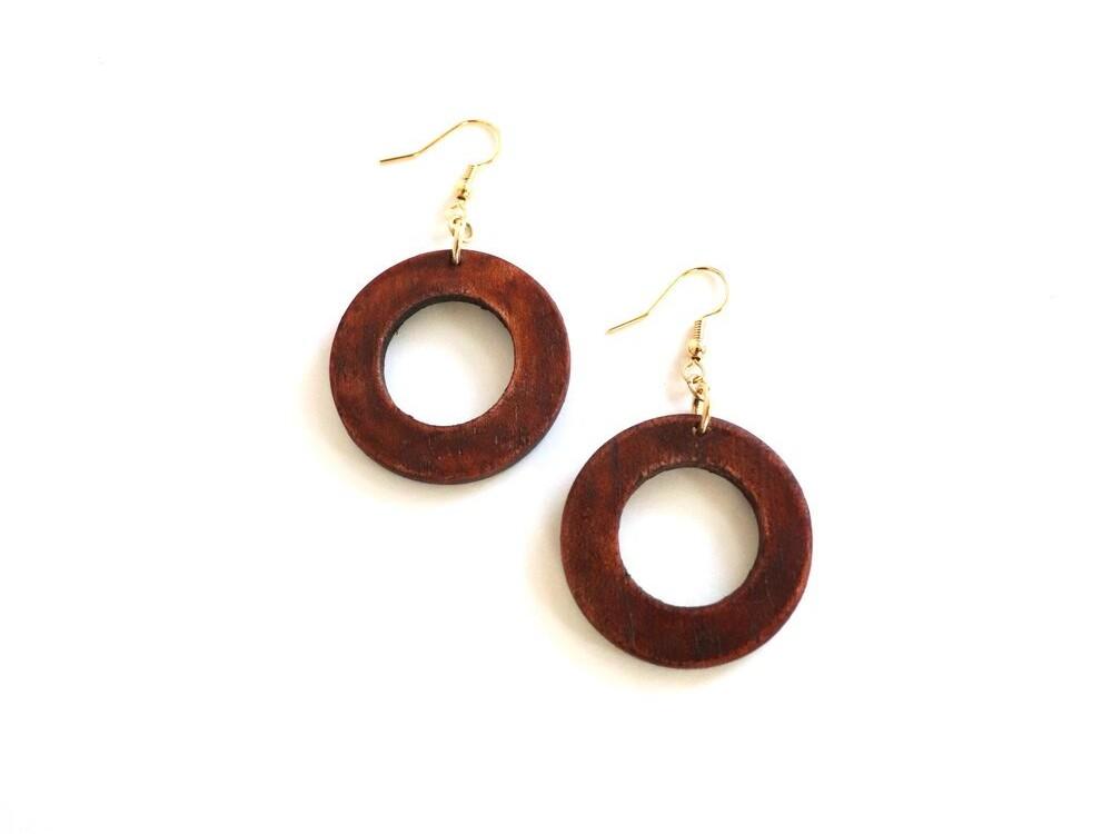 Mini Makaya Earrings – Mahogany