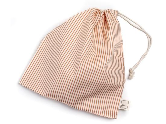 Ochre Stripe Reusable Cotton Produce Bag