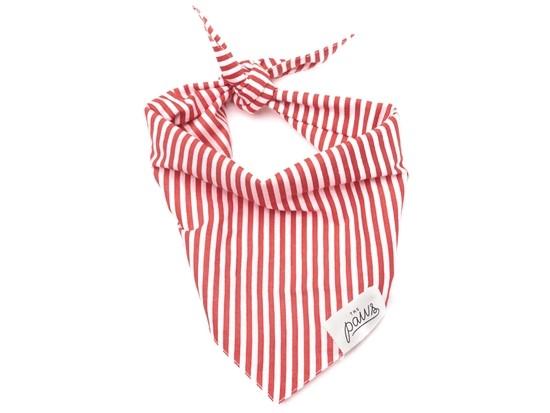 Red Stripes Bandana – Large