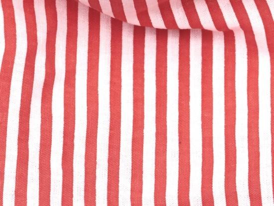 Red Stripes Pet Bandana - Large