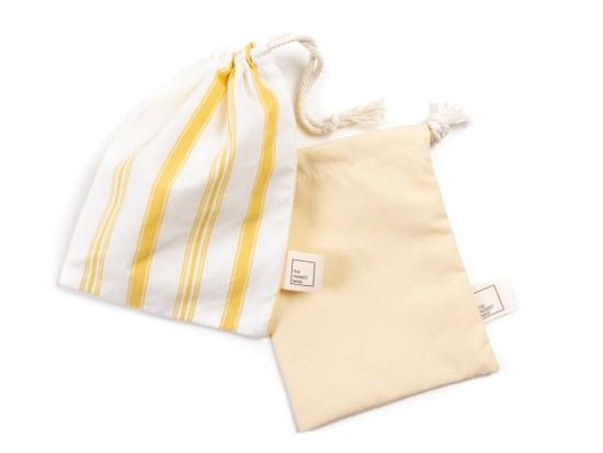 Upcycled Reusable Cotton Snack Bag – Yellow