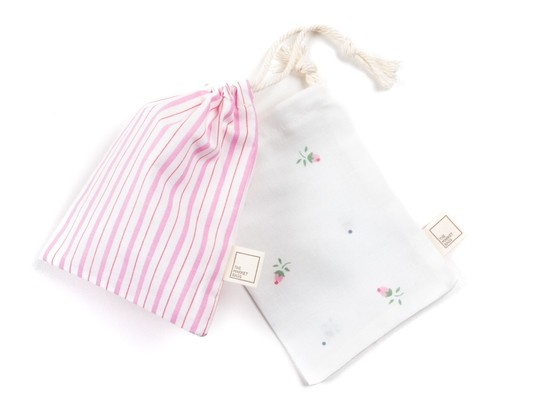 Upcycled Reusable Cotton Snack Bag – Pink