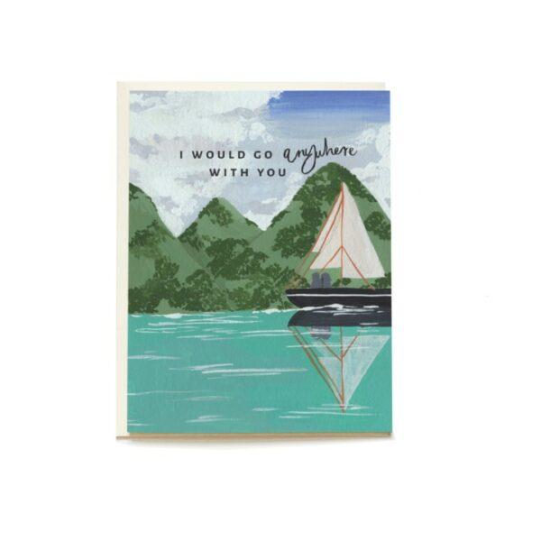 Sail Away Blank Greeting Card