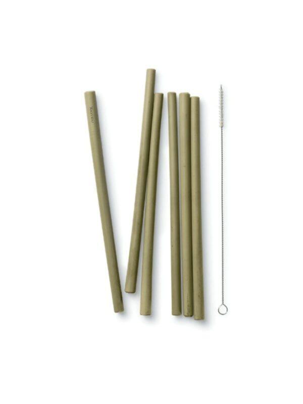 Reusable Bamboo Drinking Straws - Set of 6