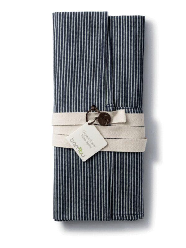 Organic Cotton Stripe Apron with Pockets