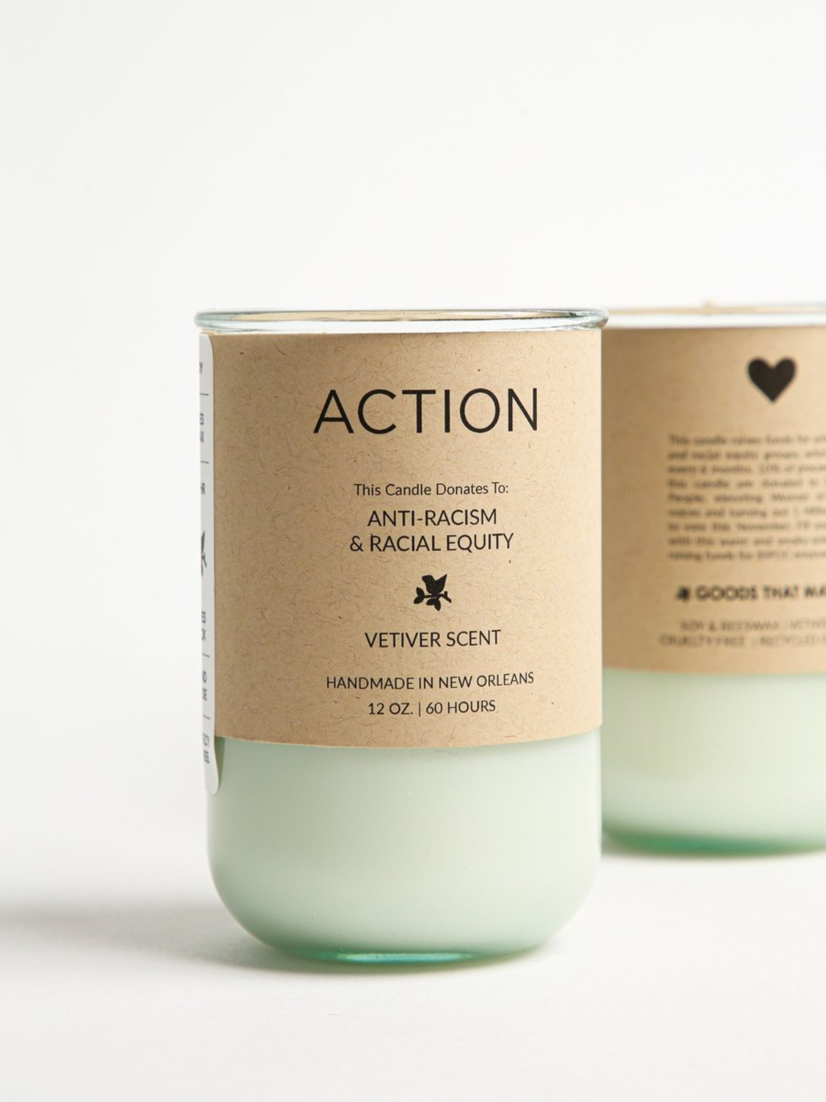 ACTION Soy Candle – Vetiver Scent