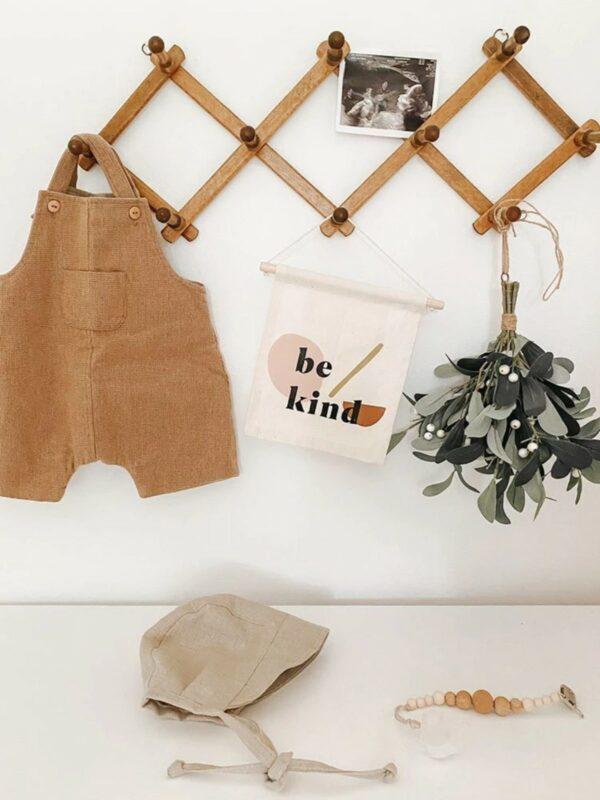 Be Kind Natural Canvas Hang Sign