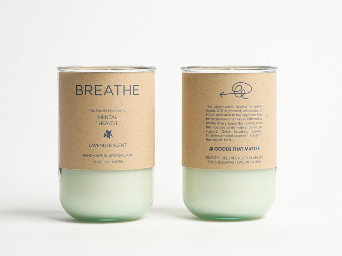 BREATHE Soy Candle - Lavender Scent