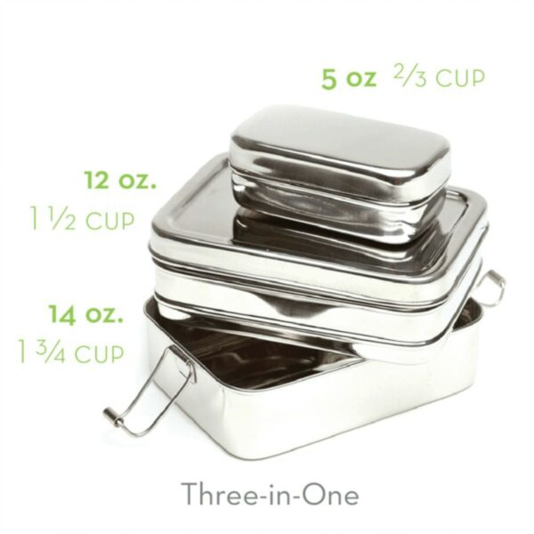 ECO Bento lunchbox - Stainless 3-in-1