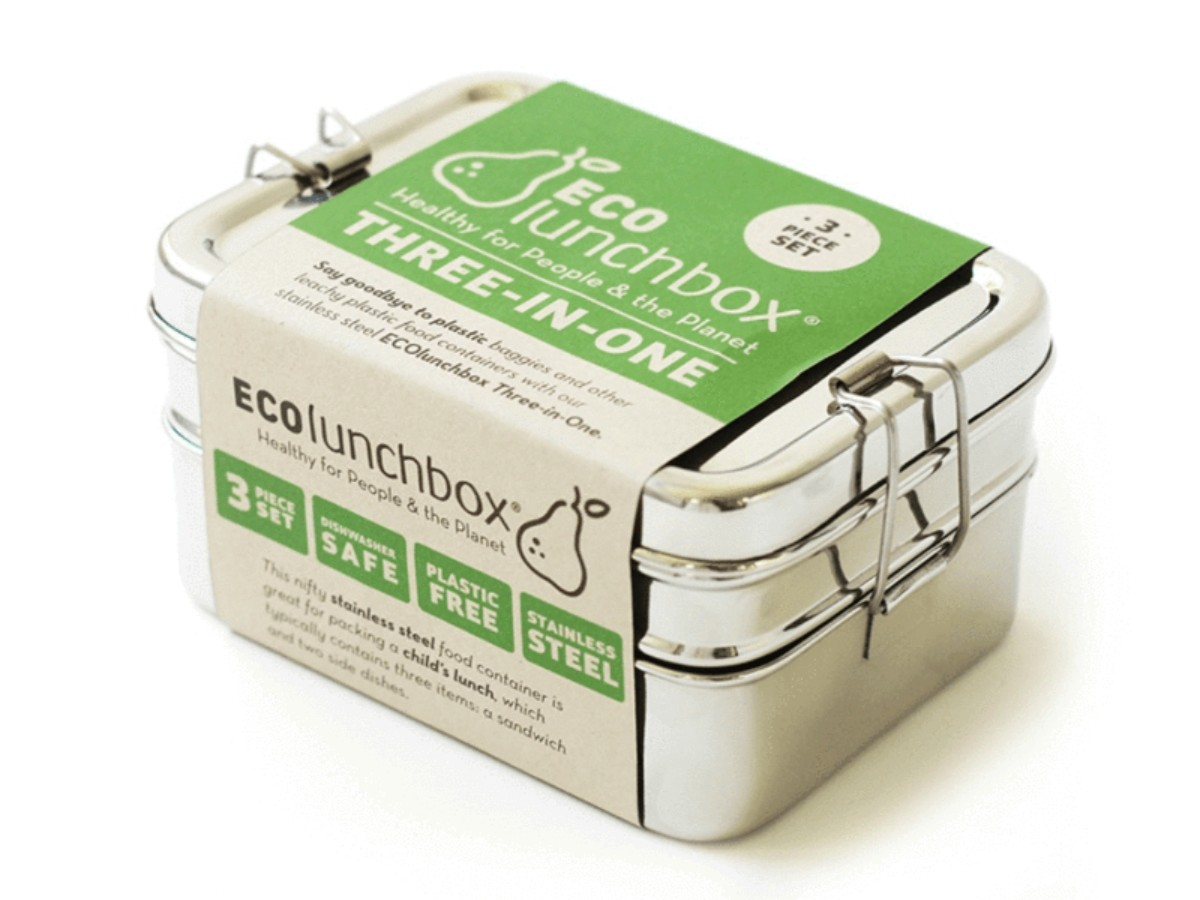 ECO Bento lunchbox – Stainless 3-in-1