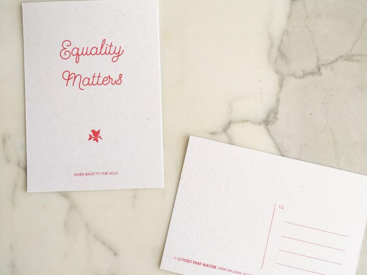 Equality Matters Eco-Friendly Postcard