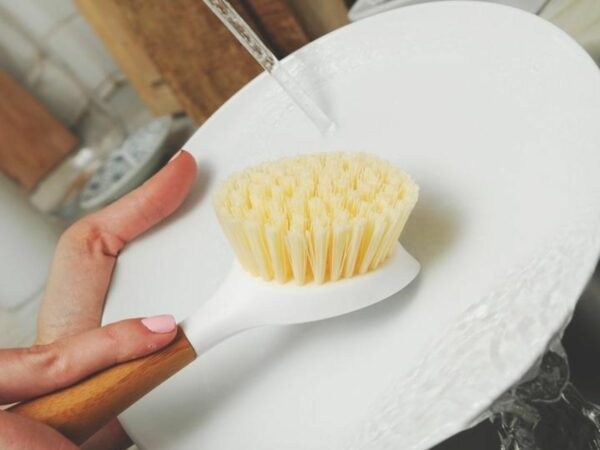 Bamboo Be Good Dish Brush - White