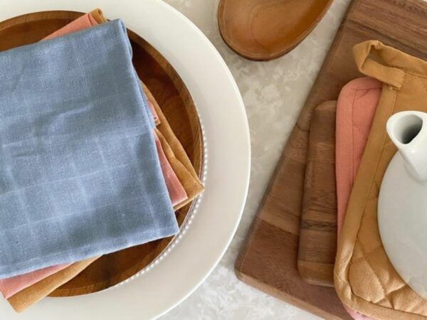 Kind Organic Cotton & Plant-Dyed  Dish Cloths (3 Pack)