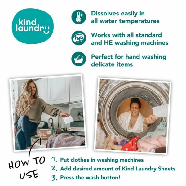 Hypoallergenic Laundry Detergent Sheets Travel Pack - Fragrance Free
