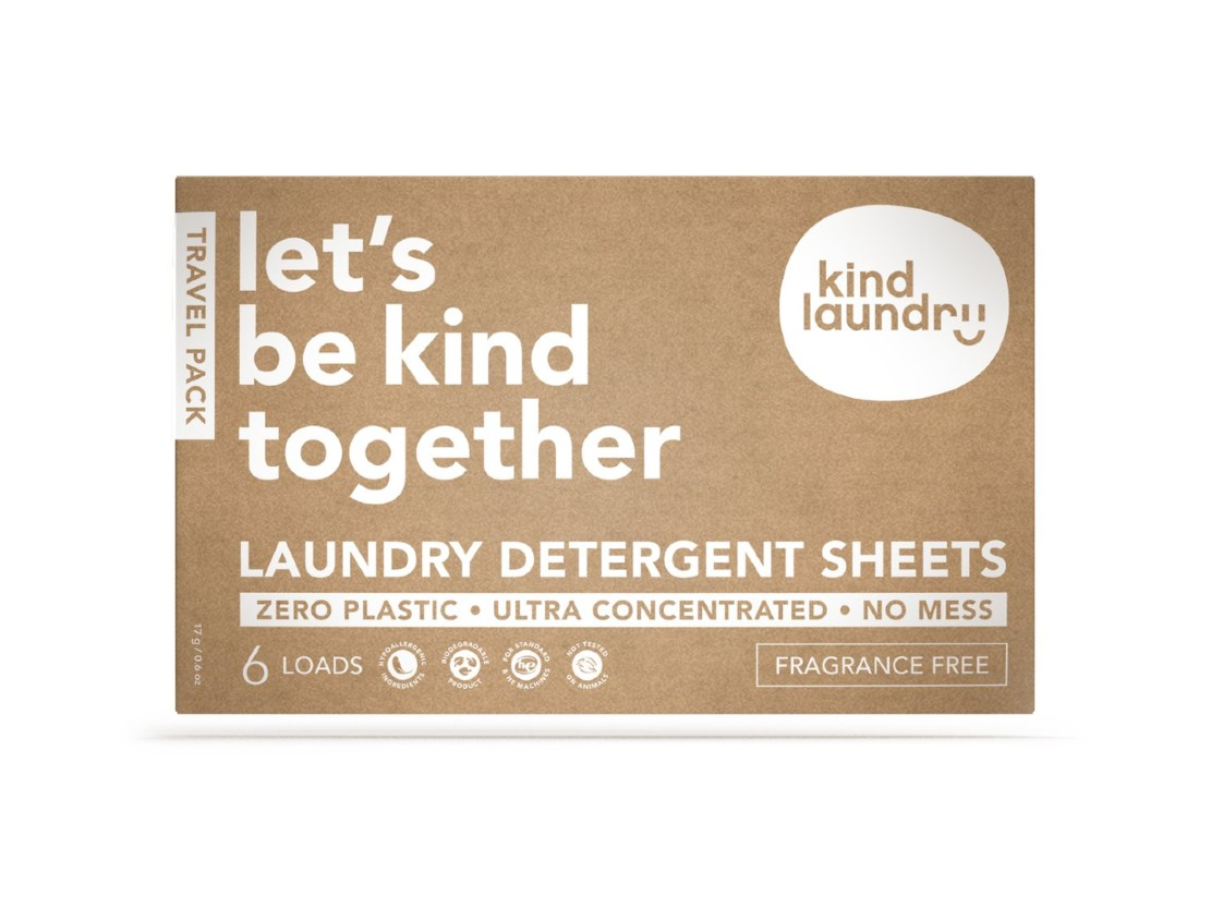 Hypoallergenic Laundry Detergent Sheets Travel Pack – Fragrance Free