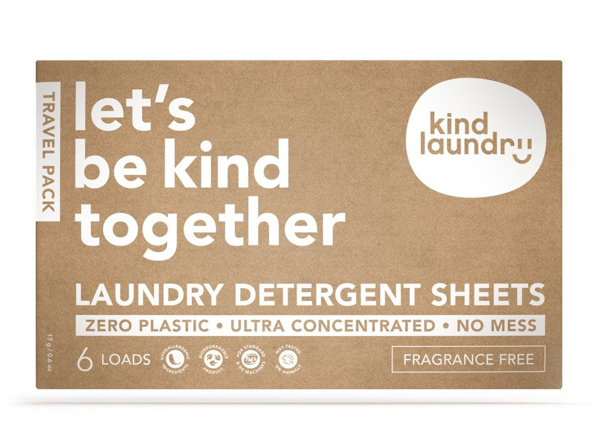 Laundry Detergent Sheets Travel Pack – Fragrance Free