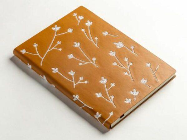 Samantha Embroidered Layflat Writing Journal