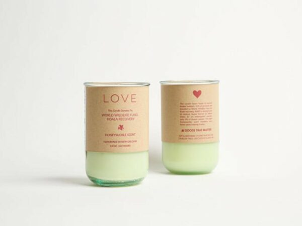 LOVE Soy Candle - Honeysuckle Scent