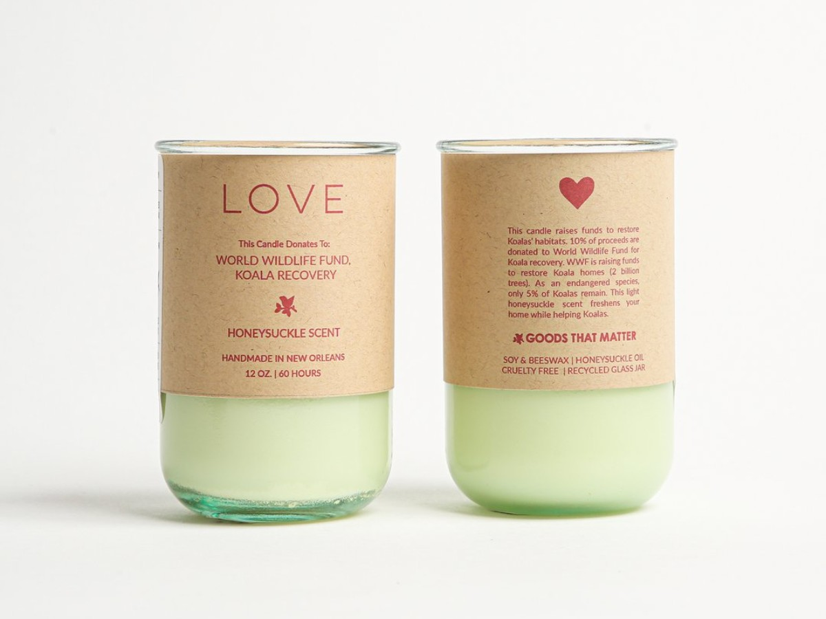 LOVE Soy Candle – Honeysuckle Scent