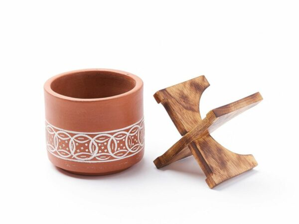 Terracotta Mango Planter with Stand