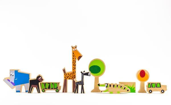 Wanderlust Wood + Felt Themed Safari Play Set