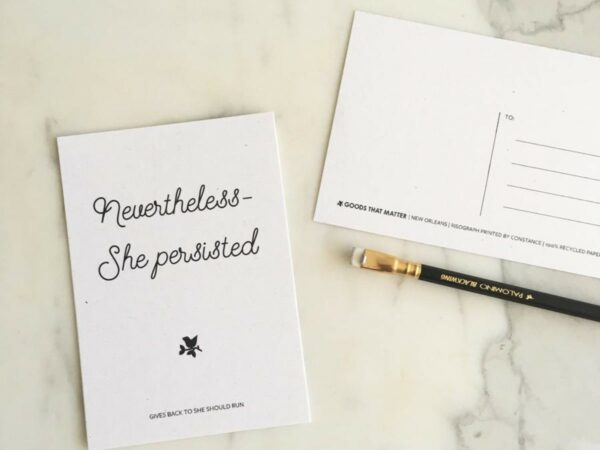 Nevertheless She Persisted Eco-Friendly Postcard