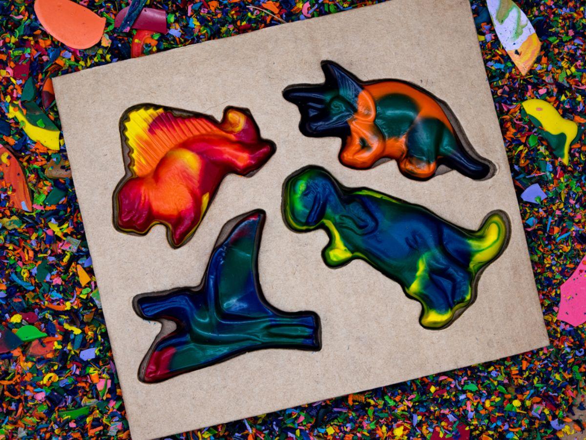 Recycled Dinosaur Crayon Set