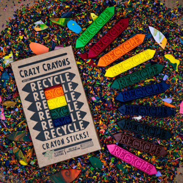 Recycled Recycle Sticks Crayon Set - Box of 10