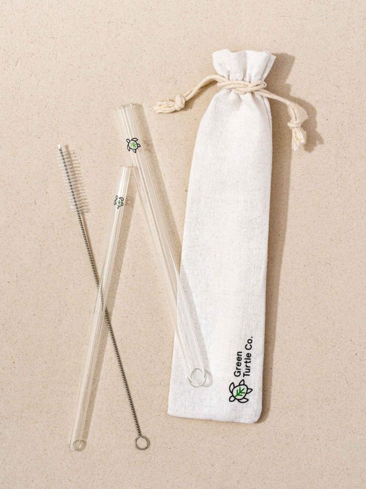 Glass Turtle Reusable Straw Pack