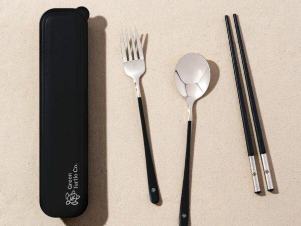 Reusable Silver Cutlery Set
