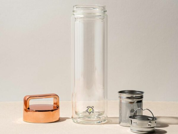 Rose Gold Double Walled Infuser Bottle