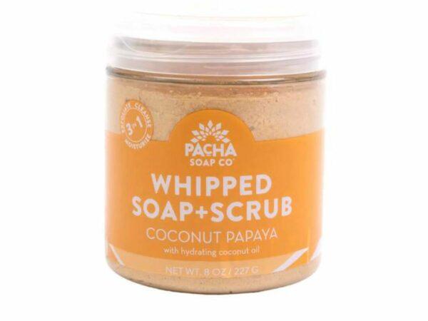 Natural Whipped Soap + Scrub - Coconut Papaya