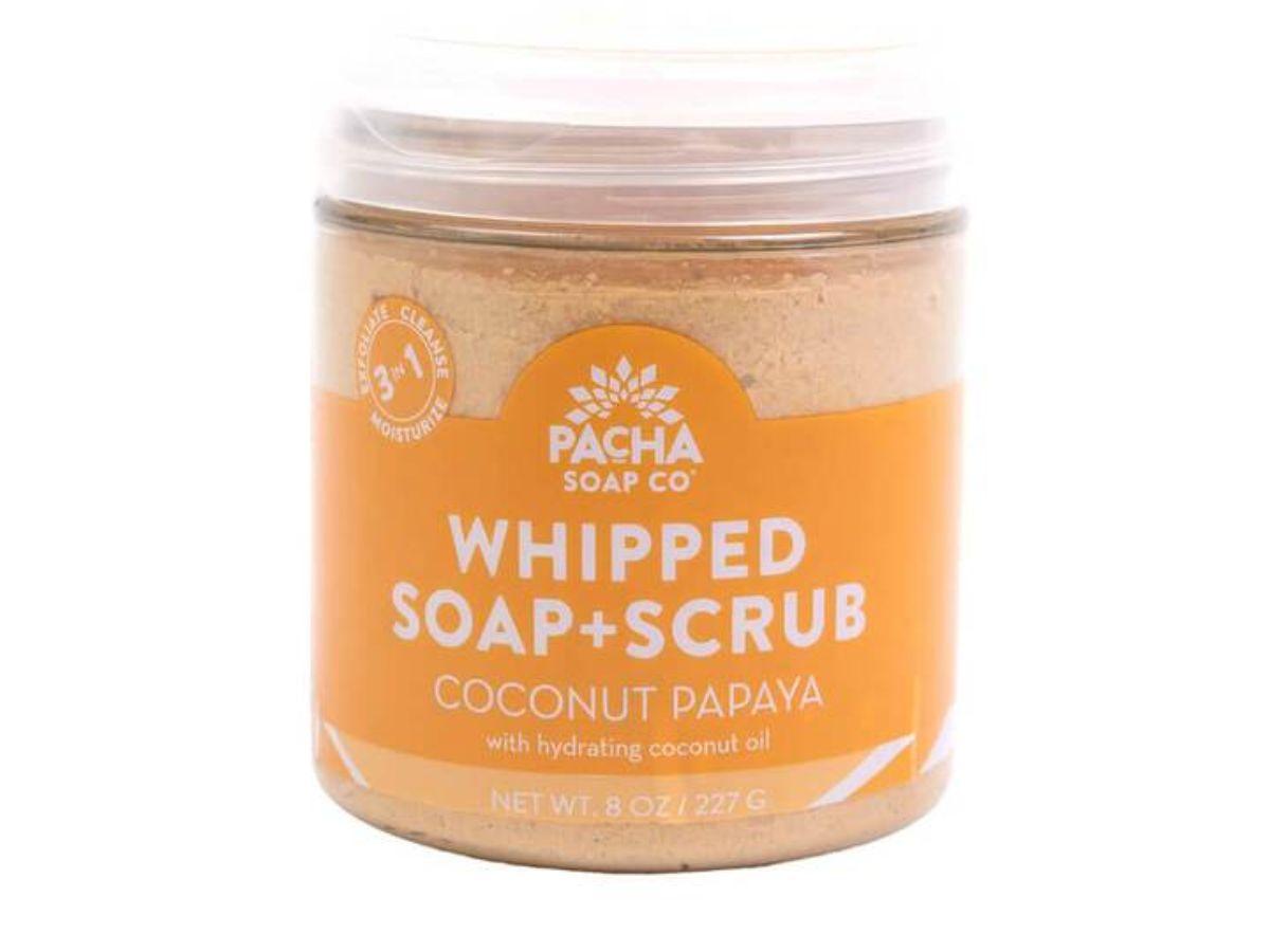 Natural Whipped Soap + Scrub – Coconut Papaya