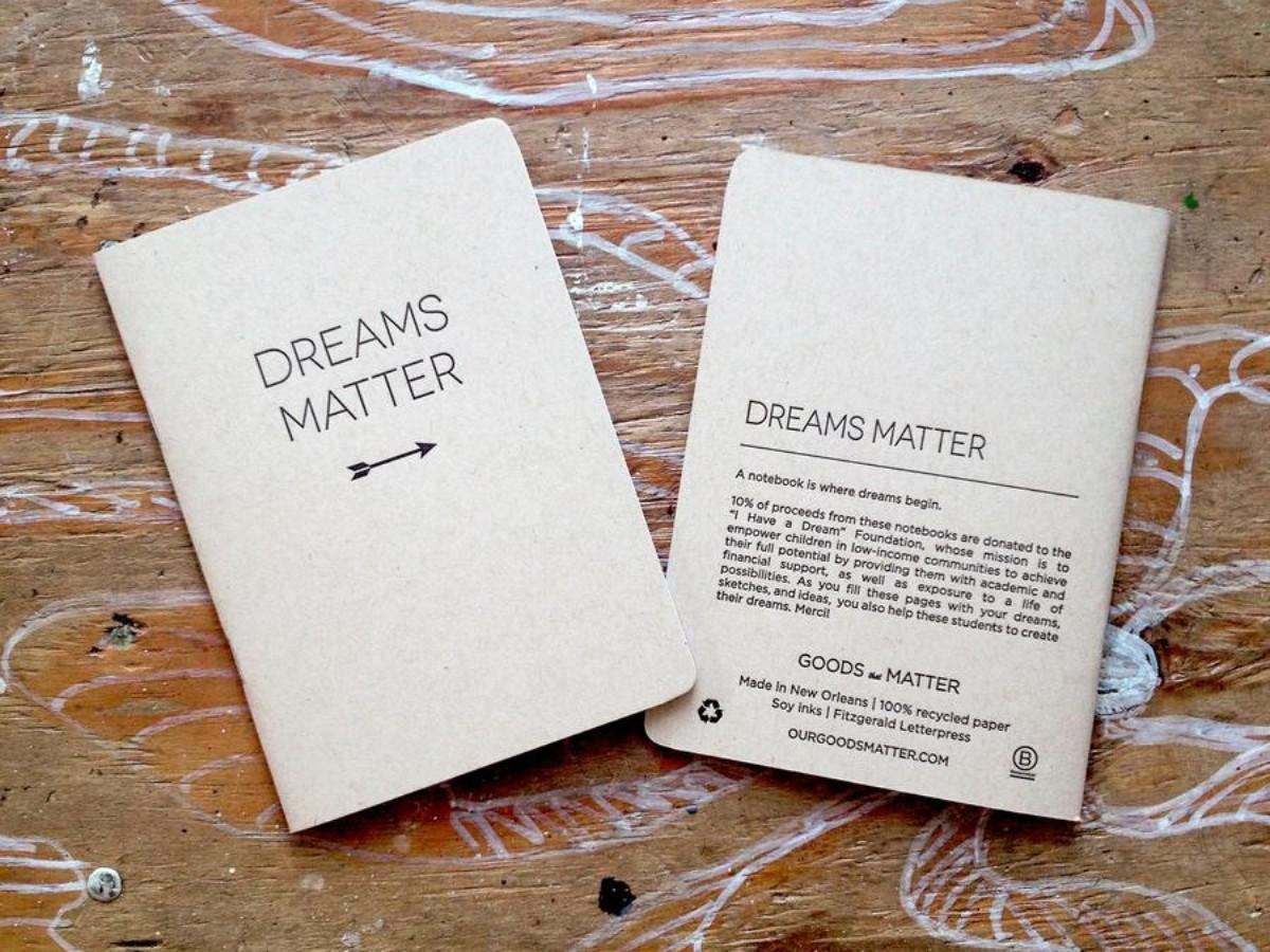 Dreams Matter Blank Handmade Notebook