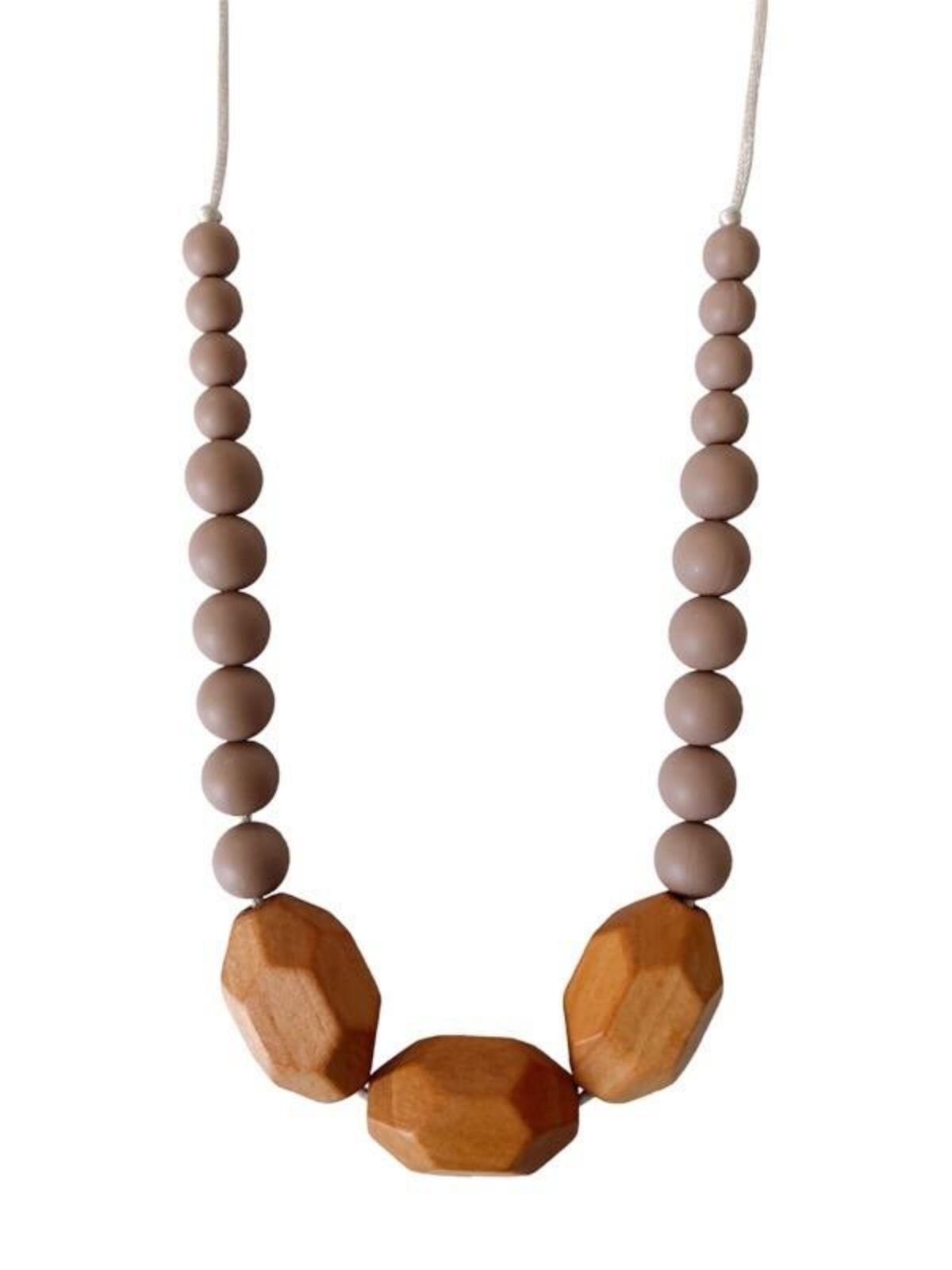 The Austin Teething Necklace – Desert Taupe