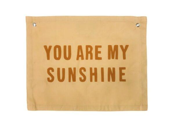 Sunshine Natural Canvas Banner