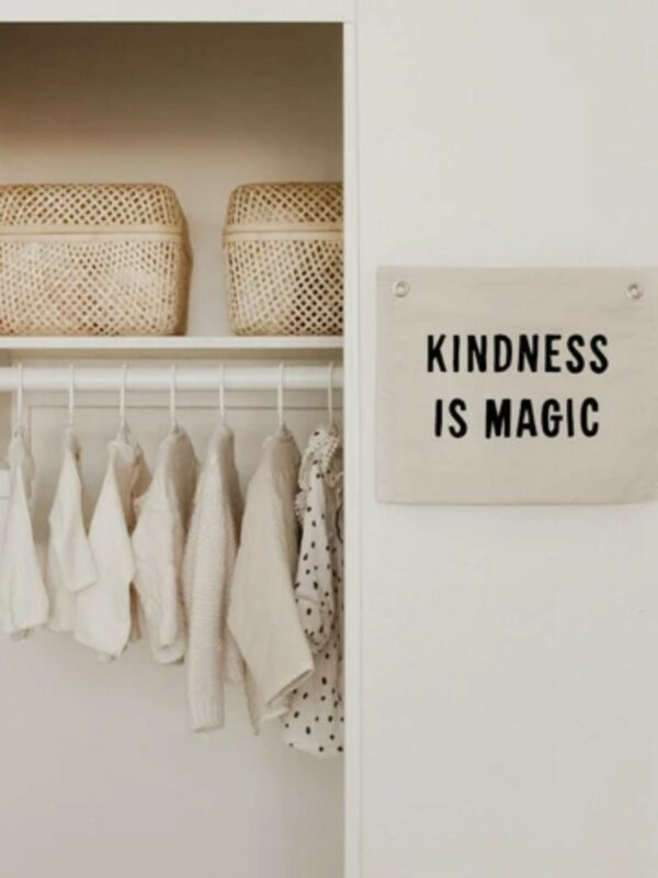Kindness is Magic Natural Canvas Banner