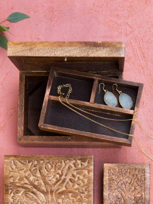 Aranyani Wooden Jewelry Box