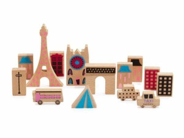 Wanderlust Handcrafted Wood + Felt Themed Paris Play Set