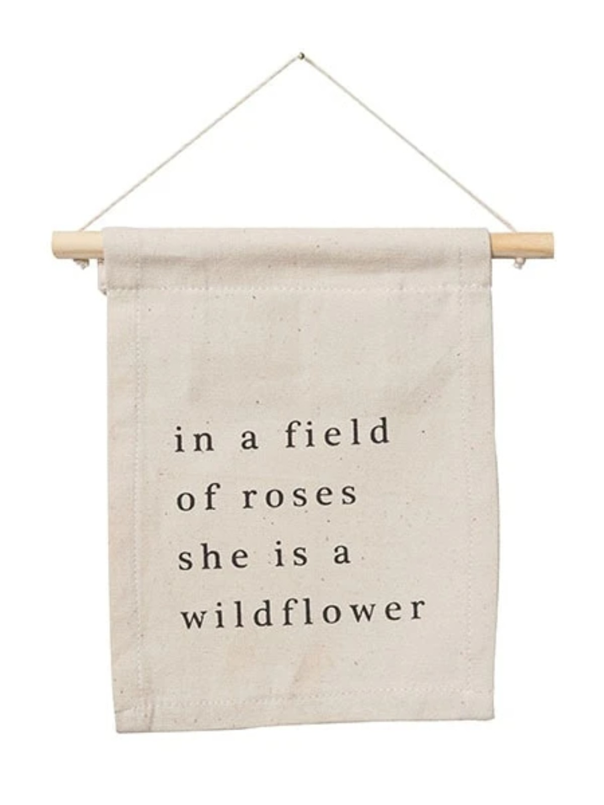 Wildflower Natural Canvas Hang Sign