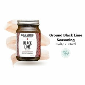 Ground Black Lime Seasoning by Burlap & Barrel. Ethical spices that give back.