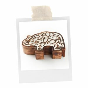 This antique elephant box is perfect for school or home.