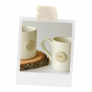 Handcrafted hope and joy mugs that equip and empower women