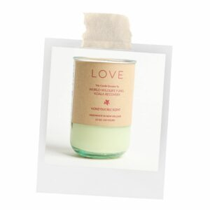 The Love Honeysuckle candle will make any room smell great