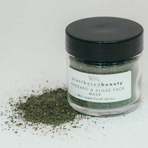 Plant Based Beauty's Avocado & Algae Nourishing Face Mask. Plant-based skin care product.