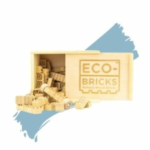Once Kids' Bamboo Building Eco-bricks – 24 Piece. Eco-friendly gift.