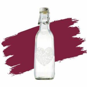 Love Bottle's Elegance Love Water Bottle. Eco-friendly gift.
