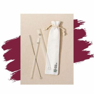 Green Turtle Co.'s Glass Turtle Reusable Straw Pack. Eco-friendly gift.
